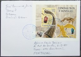 Guine-Bissau - Cover To Portugal Minerals Dinosaur Proof Perforate & Imperforate - Francobolli