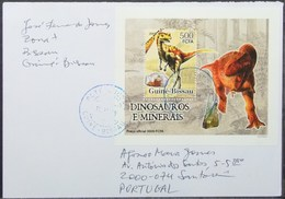 Guine-Bissau - Cover To Portugal Minerals Dinosaur Proof Perforate & Imperforate - Minerali