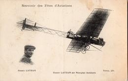 Souvenir Des Fêtes D'Aviations - Hubert LATHAM Sur Monoplan Antoinette - - France
