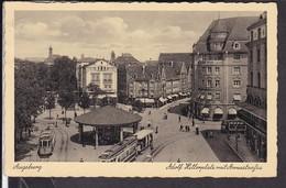 Augsburg Adolf Hitlerplatz Mit Annastraße , Straßenbahn  1934 ? - Augsburg