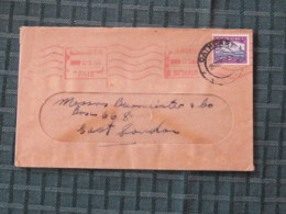 South Africa 1954 Cover Cathcart To East London - Government Buildings Pretoria - Bloemfontein Machine Franking - Briefe U. Dokumente