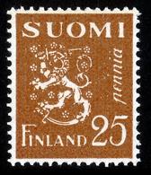 FINLAND 1930-1952 Definitive II Lion Type M/30, MI 146 ** Dextrine Invisible Gum - Nuovi