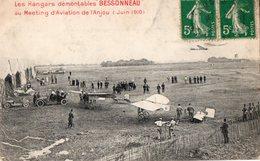 """Les Hangars Démontables """"BESSONNEAU"""" Au Meeting D'Aviation De L'Anjou ( Juin 1910 ) - France"""