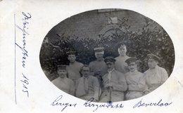 BELGIQUE BEVERLOO GUERRE 14-18 SOLDATS OFFICIER BLESSES ALLEMANDS CARTE PHOTO SUPERBE 21 12 1915 - Belgien