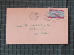 South Africa 1962 Cover East London To East London - Ships - Libretti