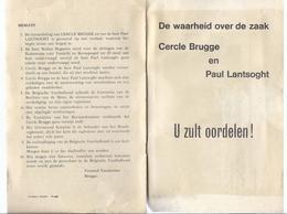 VOETBAL KRANTEKNIPSEL BEKERMATCH CLUB BRUGGE - ANTWERP CERCLE BRUGGE MENTAAL ONDERMIJND BIBY HINDERIJCKX ... - Documents Historiques