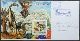 Guine-Bissau - Registered Cover Minerals Dinosaur Volcano - Francobolli