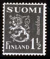 FINLAND 1940 Definitive Lion, MI 230**MNH Dextrine Invisible Gum - Nuovi