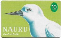 Nauru - Comcard Pacific - White Tern - 10$, (With Sticker Magnetic Band), Used - Nauru