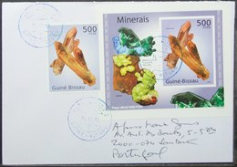 Guine-Bissau - Cover To Portugal Minerals Stamp & Proof - Minerali