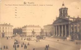 BRUXELLS - Place Royale (Monument Godefroid De Bouillon Et Eglise St. Jacques Sur Caudenberg) - Marktpleinen, Pleinen