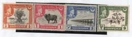 1 BAHAWALPUR 1949 Yvert 18/21 TT: Puentes,Ganado,Flora,Fauna,Trigo. - Postzegels