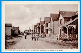 CPA 85 St SAINT-JEAN-de-MONTS Vendée - Plage Des Demoiselles - Avenue De La Plage ° Edition Leroux - Saint Jean De Monts