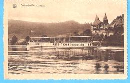 Profondeville-1934-la Meuse-Bateau Pour Touristes (touriste)-Villa-Edit.J.Lallement, Profondeville - Profondeville