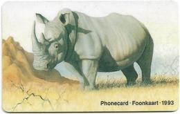 S. Africa - Telkom - The Big Five Animals - Rhinoceros - 10R, Chip Siemens S31, 1993, Used - Zuid-Afrika