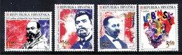 CROATIA 1996 Political Anniversaries MNH / **.  Michel 366-69 - Kroatien