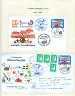 Alliance Champlain; 25 Ans En 2010. Club Philatélique Le Cagou. Maison Du Livre. FRAIS De POSTE (6990) - Neukaledonien