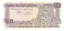 VIETNAM SOUTH 50 DONG 1966 PICK 17a AU - Viêt-Nam