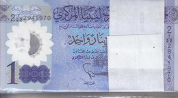 LIBYA 1 DINAR 2019 P-new POLYMER LOT HALF BUNDLE X50 UNC NOTES */* - Libya