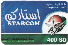 Sudan - Sudatel - Starcom - Prepaid 400SD, Used - Soudan