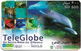 Sudan - Sudatel - TeleGlobe - Dolphin, Prepaid 500SD, Used - Soudan