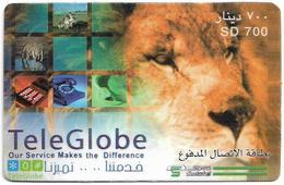 Sudan - Sudatel - TeleGlobe - Lion, Prepaid 700SD, Used - Soudan