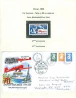 L'Aiglon; Henri Martinet Et Paul Klein; Paris-Nouméa En 32 Escales, 23 Mars 1939; 70 Ans. FRAIS De POSTE (6991) - Cartas