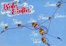 Isole Eolie - Lipari - Vulcano - Alicudi - Filicudi - Stromboli - Panarea - Formato Grande Viaggiata – E 13 - Messina