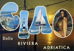 Ciao Dalla Riviera Adriatica - Donnina - Sex - Erotica - Formato Grande Viaggiata – E 13 - Non Classificati