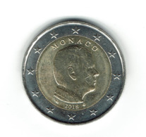 EURO / MONACO 2018 / Pièce De 2 Euros De Circulation / Usage Courant/ Très Peu Circulée Brillante - Monaco