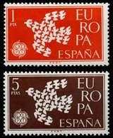 SPANIEN Nr 1266-1267 Postfrisch S049E76 - 1961-70 Ungebraucht