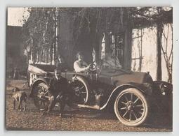 """09478 """"AUTO ANNI '30 - IN CAMPAGNA""""  ANIMATA, CANE, GALLINE.  FOTO ORIGINALE - Automobili"""