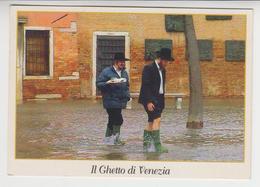 CC 157 / ITALIE , ITALIA  /  VENEZIA , VENISE   /     IL  GHETTO  ( Acqua Alta , Hautes Eaux , High Water ), JUDAïCA - Venezia (Venice)