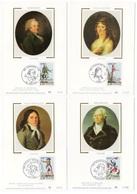 Carte Maximum 1989 - Personnages Célèbres Révolution Condorcet Madame Roland Desmoulin Kellermann YT 2564 à 2569 - Maximumkarten