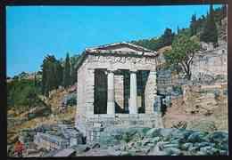 DELPHI - Greece - The Treasure Of The Atenians  -  Vg - Grecia