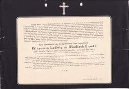 KLADRAU Böhmen Grafin Valerie DESSEWFFY Von CSERNEK épouse Prince Ludwig Zu WINDISCH-GRAETZ 1912 Allemagne Bohème - Décès