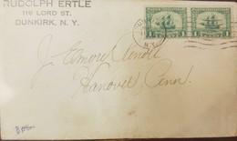 O) 1924 UNITED STATES - MAYFLOWER SC 548 1c - PILGRIM TERCENTENARY, RUDOLPH ERTLE, XF - Covers & Documents