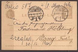 AUSTRIA / HUNGARY/ CROATIA. OSIJEK / ESSEG FORTRESS. PRE WW1 MILITARY POST. CAVALRY REGIMENT BASED IN CZEGLED. 1910. CAR - 1850-1918 Empire