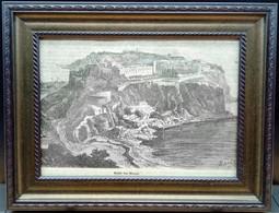 Vue De Monaco/ View On Monaco/ Uitzicht Op Monaco Ca. 1850 - Estampes & Gravures