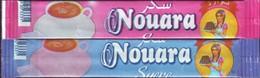 """Algérie- 2  Sticks De Sucre Vide """" Nouara""""- - Sucres"""