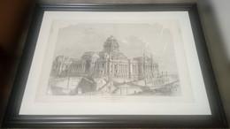 Paleis Van Justitie Brussel/ Palais De Justice Bruxelles, 1883, 77 Cm X 58 Cm - Estampes & Gravures