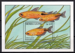 Sierra Leone MiNr. Bl. 76 ** Fische - Sierra Leone (1961-...)
