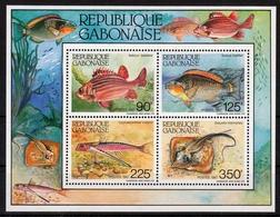 Gabun MiNr. Bl. 56 ** Fische - Gabun (1960-...)