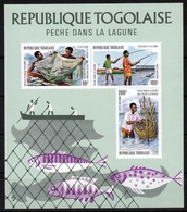 Togo MiNr. Bl. 85 ** Lagunen-Fischerei - Togo (1960-...)