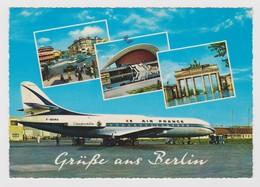 AKDE Allemagne / Deutschland / Germany Berlin - Air France Airplane At Tegel Airport - Brandenburger Tor - 1965 - Tegel