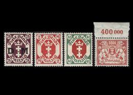 Danzig, Postfrisch, Michel-Nr. 79 / 96 / 152/ Dienstmarke Mi.-Nr. 15 - Danzig