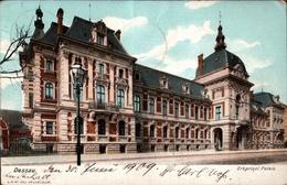 ! Alte Ansichtskarte Dessau, 1909, Palais, Gelaufen Nach Zürich - Dessau