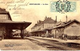 PONTARLIER -la Gare  -ed. Borel - Pontarlier