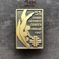 Badge Pin ZN008710 - Gymnastics Germany Ebingen Schwäbische Landesturnfest 1967 - Gimnasia