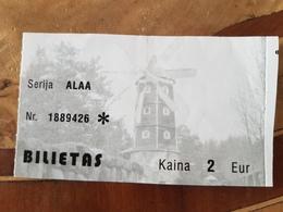 Lithuania Birston Sculpture Park 2019 Ticket - Tickets - Entradas